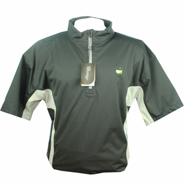 Masters Tech Black/Grey Short Sleeve Wind Shirt