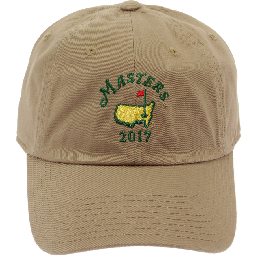 2017 Masters Hat with Date - Khaki Front Shot