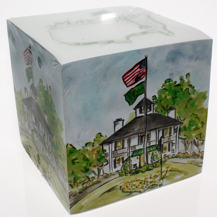 Masters Clubhouse Memo Pad Cube