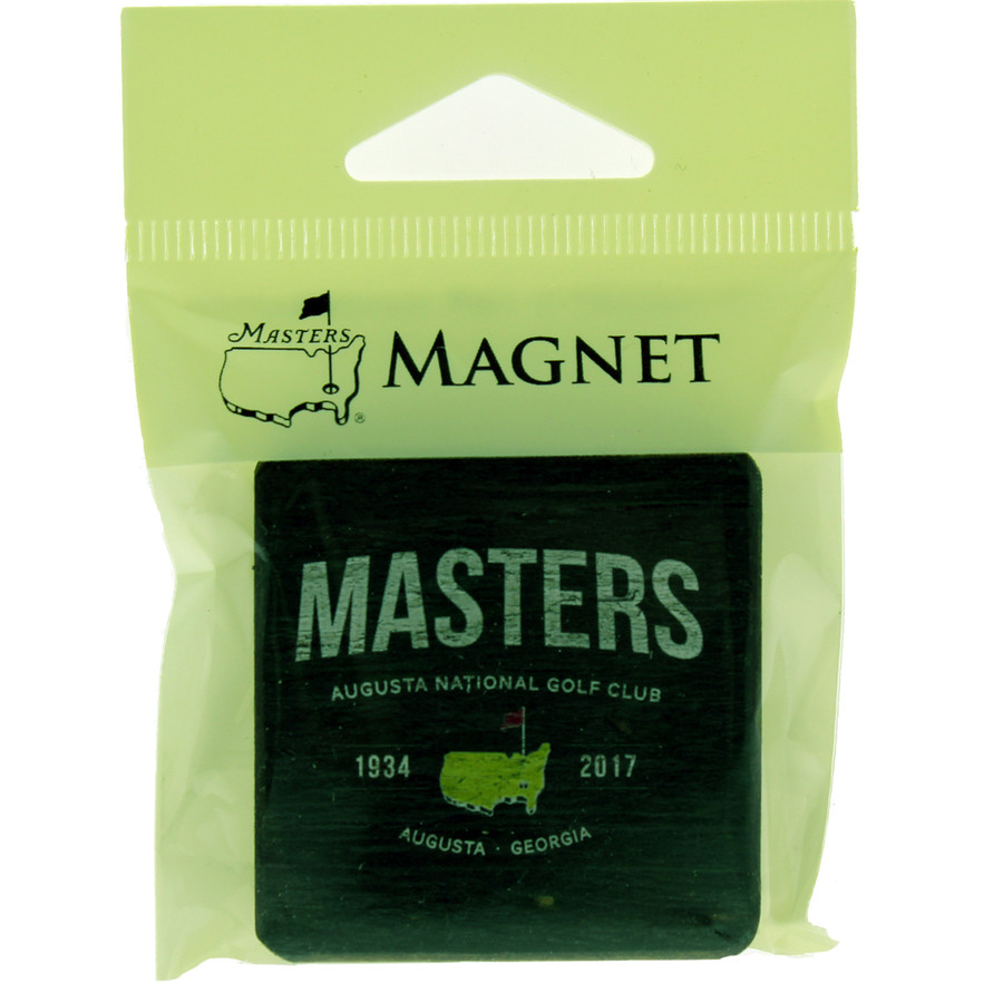 Masters 2017 Green Wooden Square Magnet