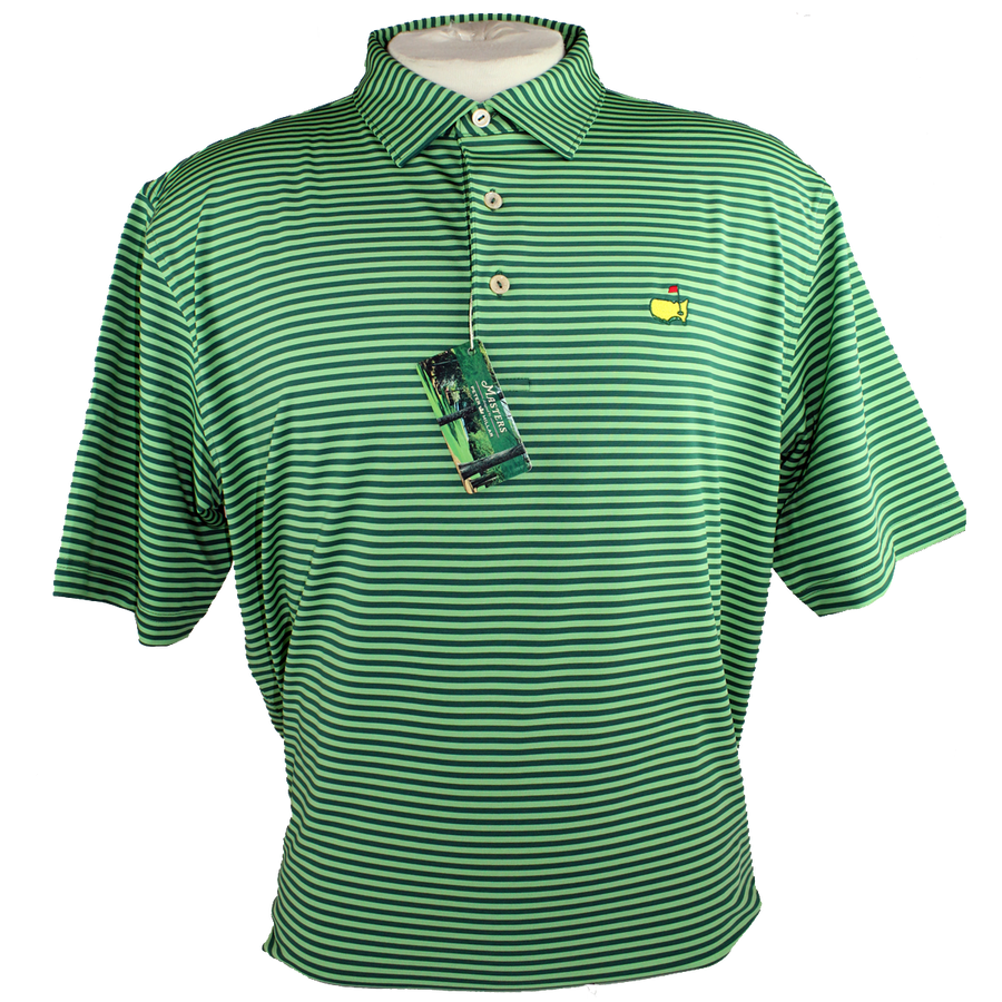 Peter Millar Performance Golf Shirt - Striped Augusta Pines