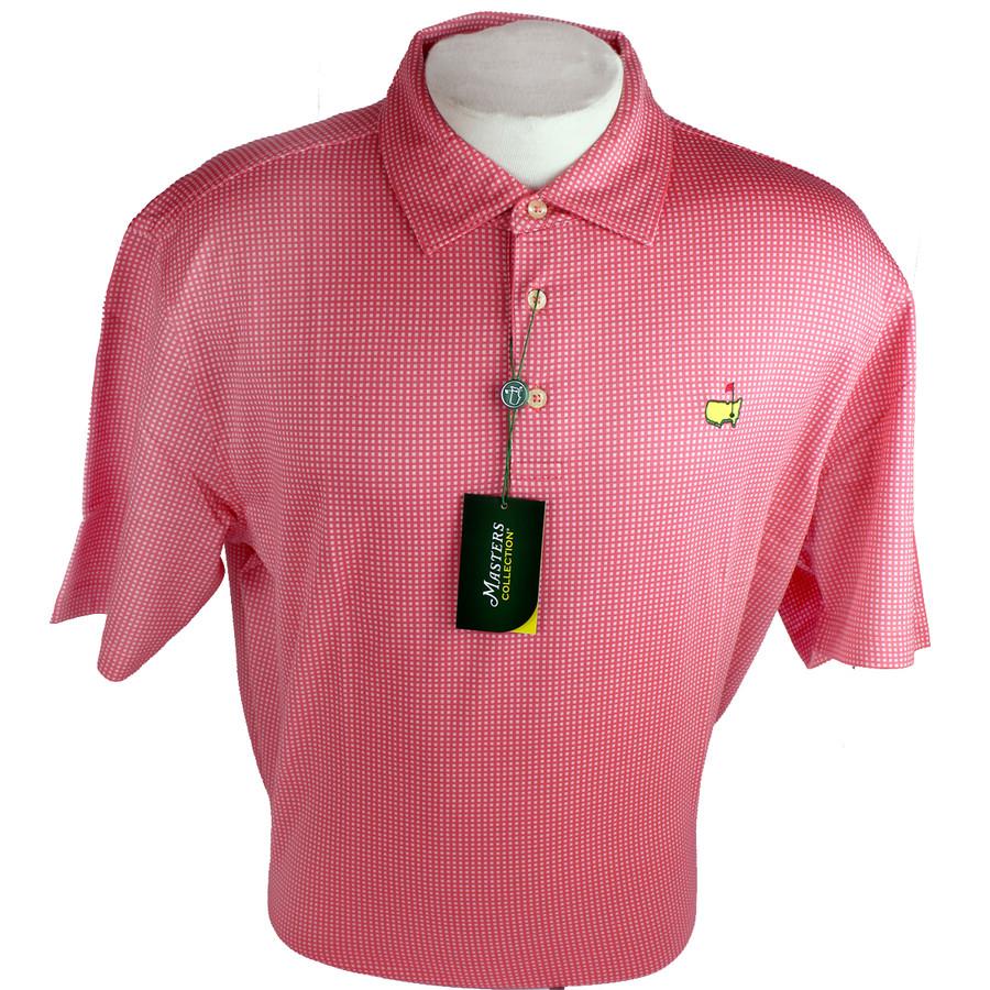 Masters Jersey Pink & White Squares Golf Shirt