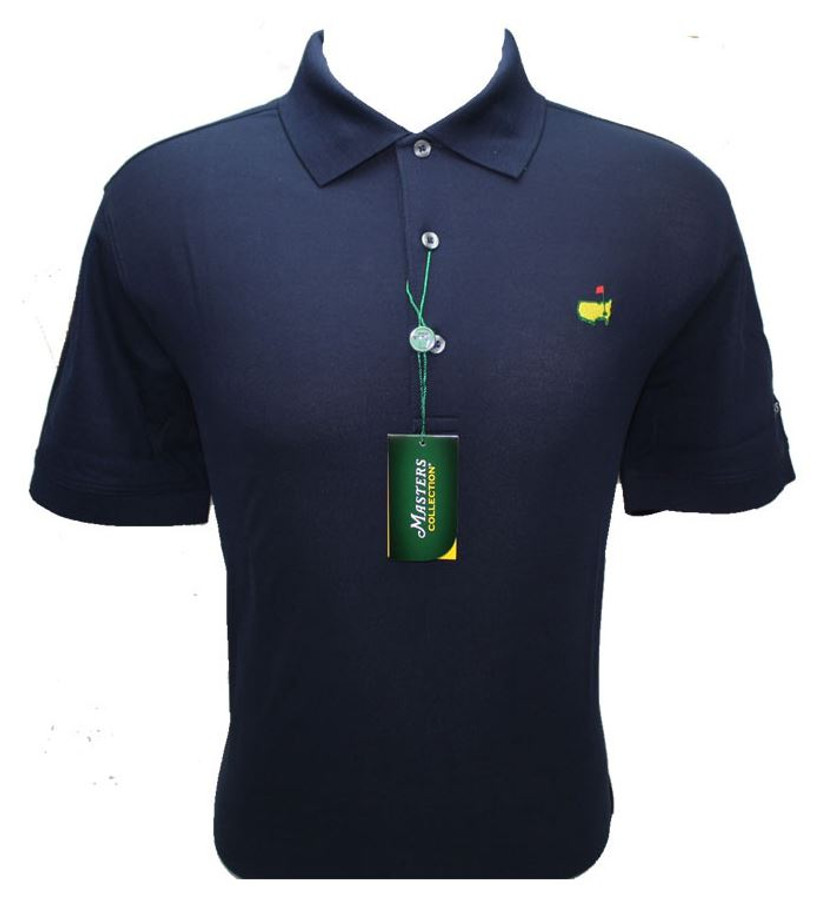 Masters Jersey Navy Blue Golf Shirt