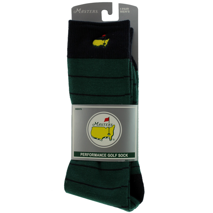 Masters Green & Navy Striped Performance Golf Sock