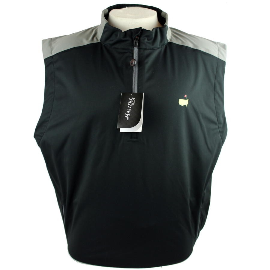 Masters Black With Grey Performance Wind Vest