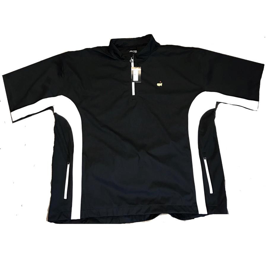 Masters Performance Tech Black & White Short Sleeve Wind Shirt