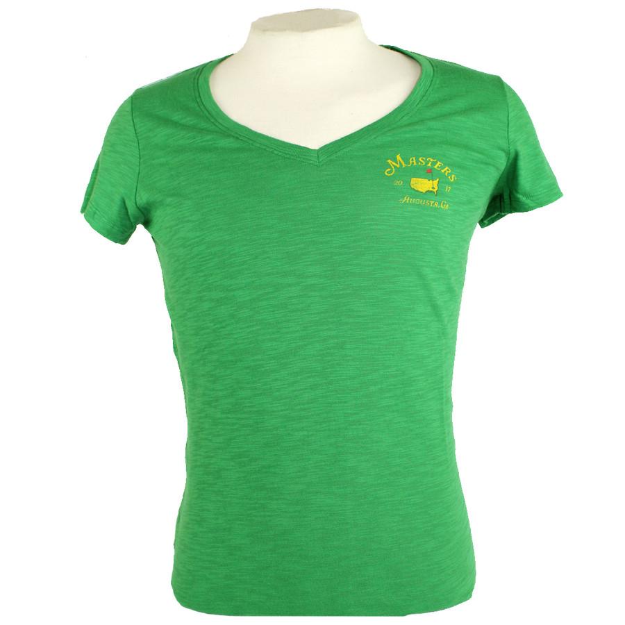 Masters Ladies Green V-Neck Shirt