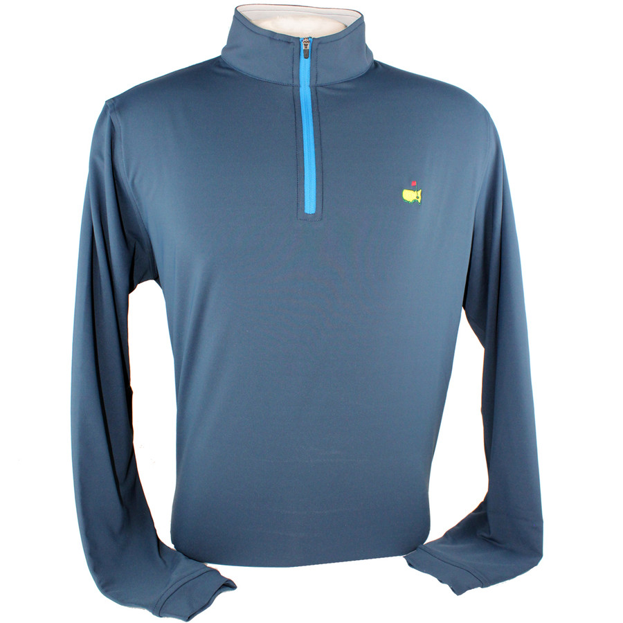 Masters Peter Millar Clubhouse Navy Quarter Zip Pullover