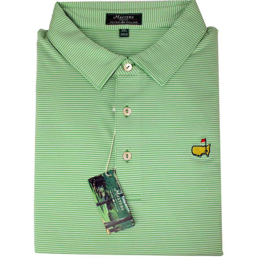 Masters Peter Millar Tea Box Striped Performance Tech Golf Shirt
