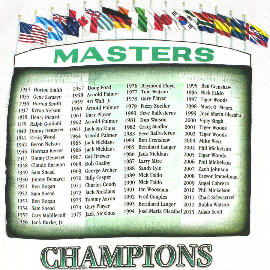 Masters 2014 Dated White Champions T-Shirt