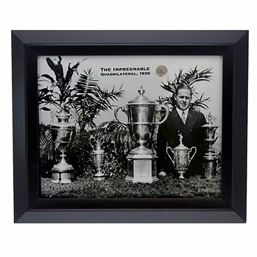 "Bobby Jones 1930 Framed Featuring ""The Impregnable Quadrilateral"""