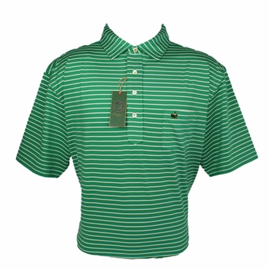 Berckmans Masters Tech Polo Green White Striped