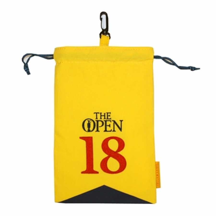 144th British Open St Andrews Large Valuables Pouch - Yellow