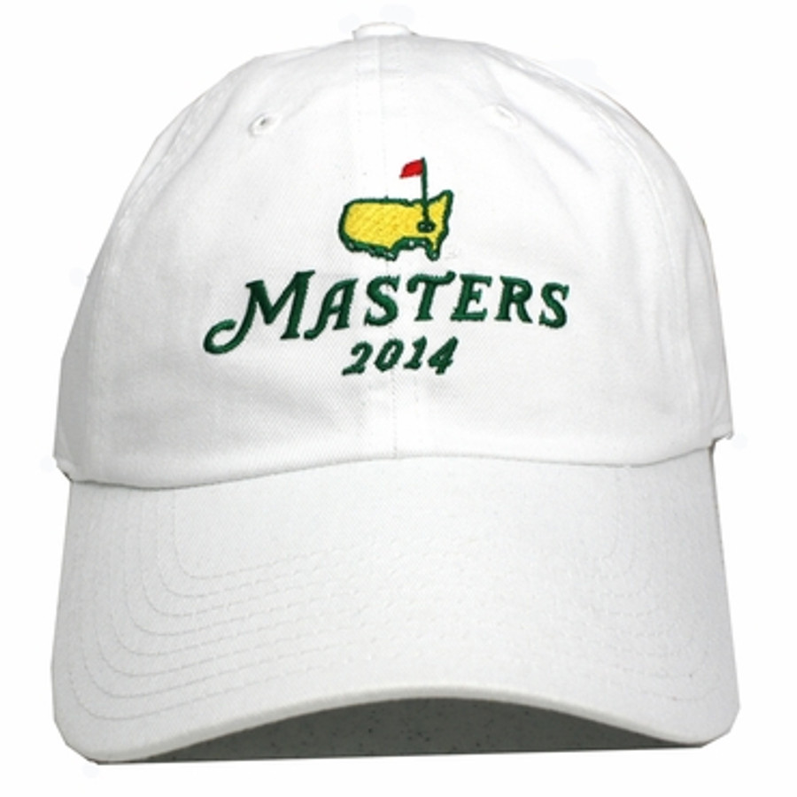 2014 Masters Stacked Logo White Hat