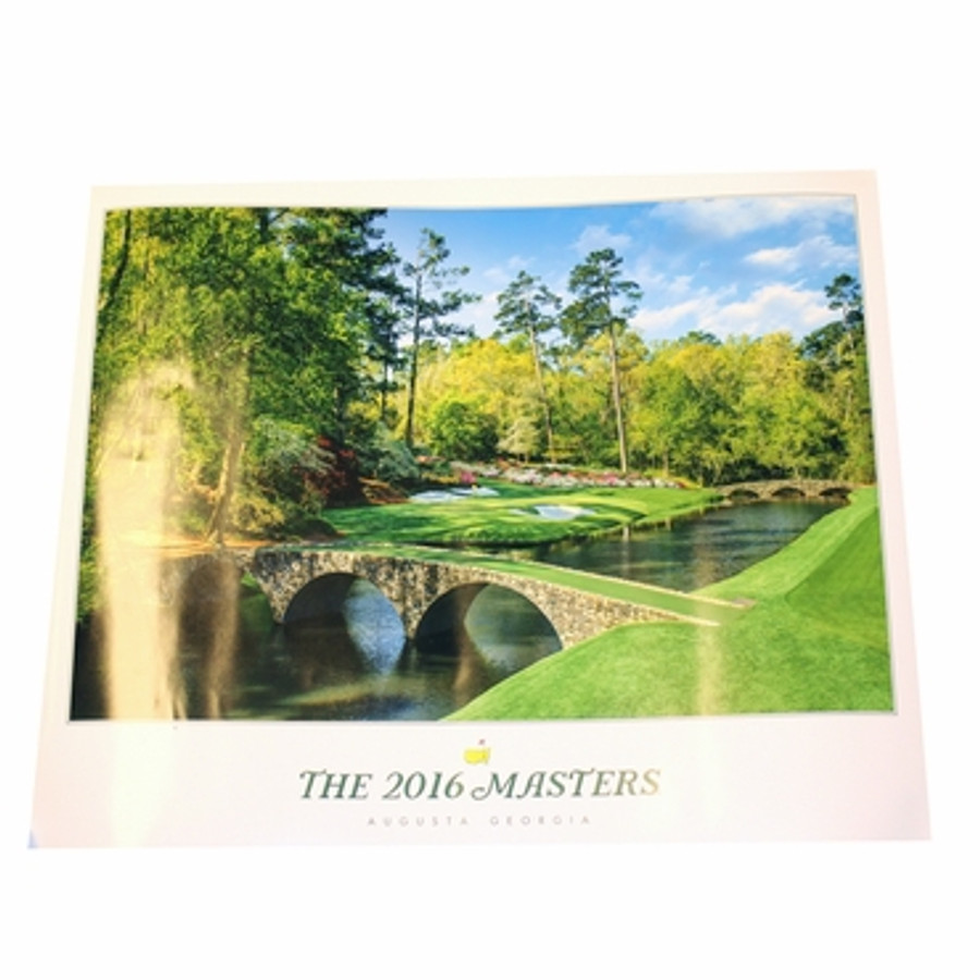 2016 Masters Commemorative Poster