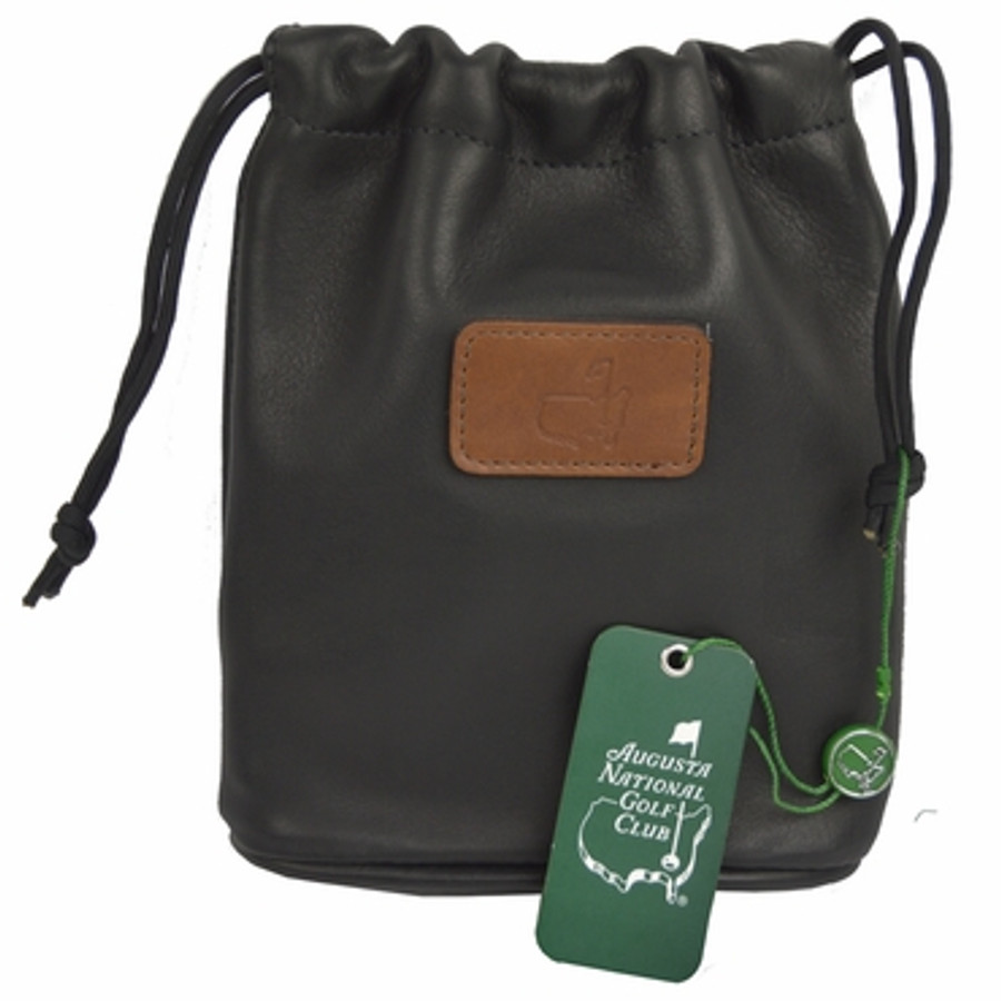 Masters Black Leather Valuables Pouch