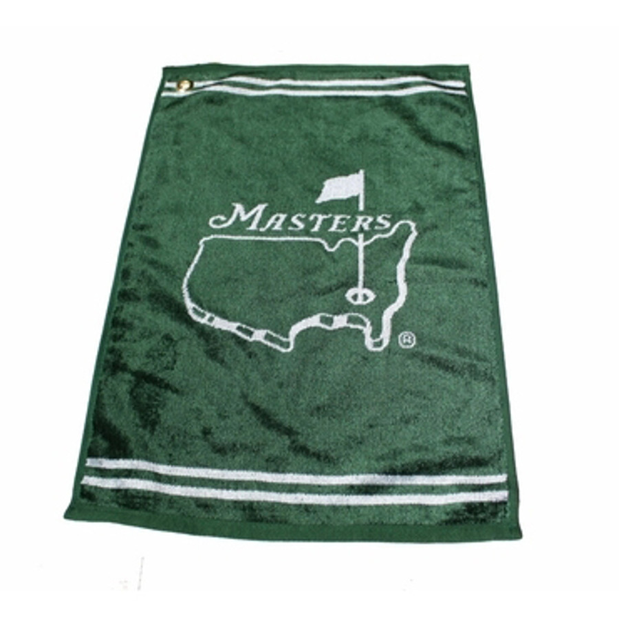 Masters Smooth Golf Towel - Green & White