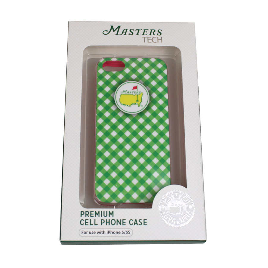 Masters iPhone Case Checkered- Green Fits 4-5s