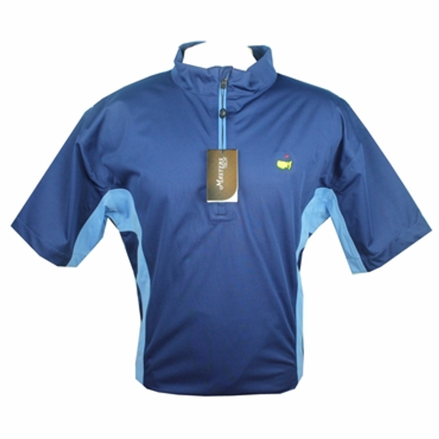 Masters Tech Navy Short Sleeve Wind Shirt