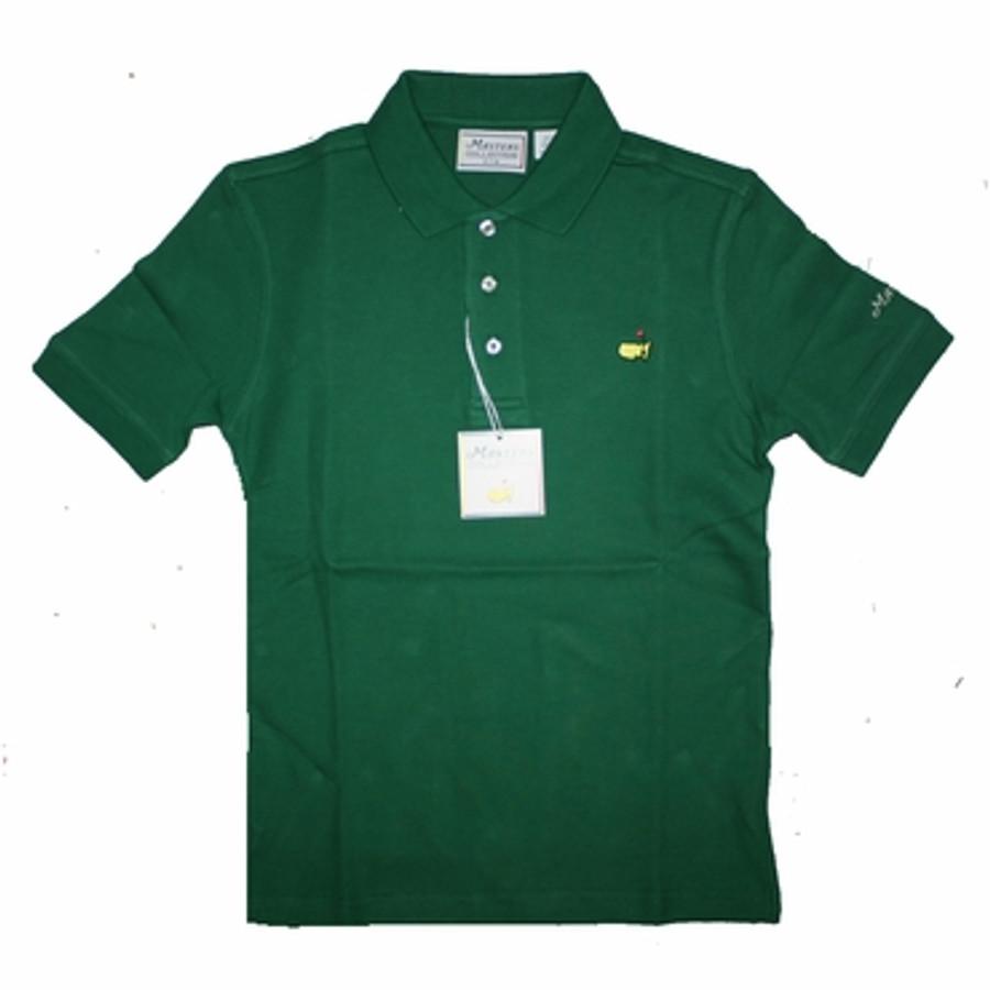 Masters Youth Golf Shirt - Green