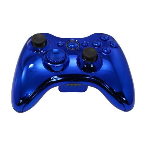 Blue Chrome Controller   Xbox 360