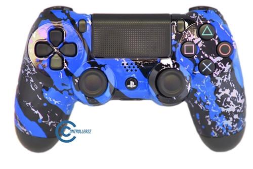 Blue Splatter PS4 Controller | Ps4
