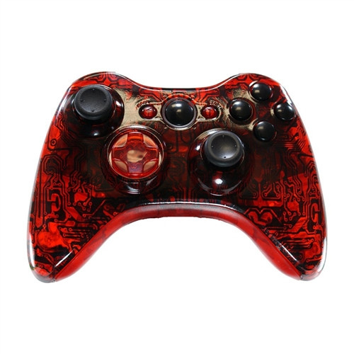 Red Circuit Board Controller | Xbox 360