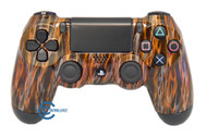 Orange Flame PS4 Controller | Ps4