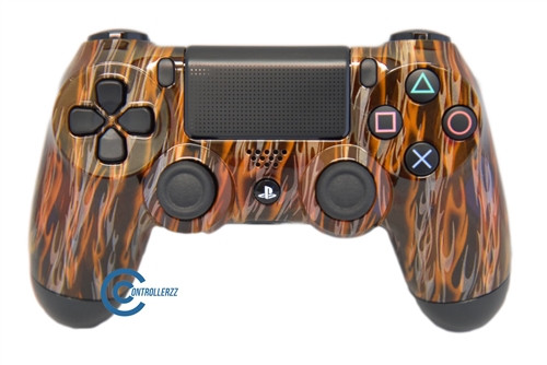 Orange Flame PS4 Controller   Ps4