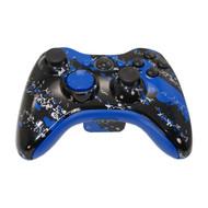 Blue Splatter Controller | Xbox 360