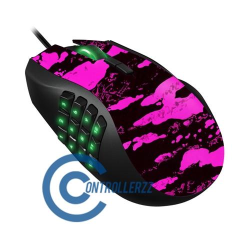 Pink Splatter Razer Naga | Razer Naga