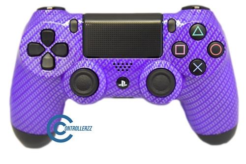 Purple Carbon Fiber PS4 Controller   Ps4
