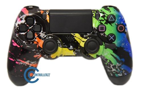 Rainbow Splatter PS4 Controller | Ps4