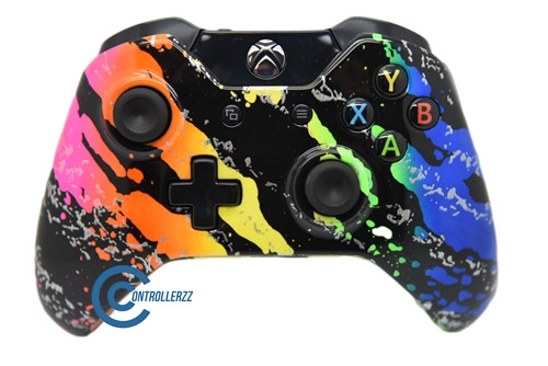 Rainbow Splatter Xbox One Controller   Xbox One