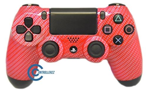 Red Carbon Fiber PS4 Controller | Ps4