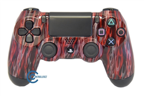 Red Flame PS4 Controller | Ps4