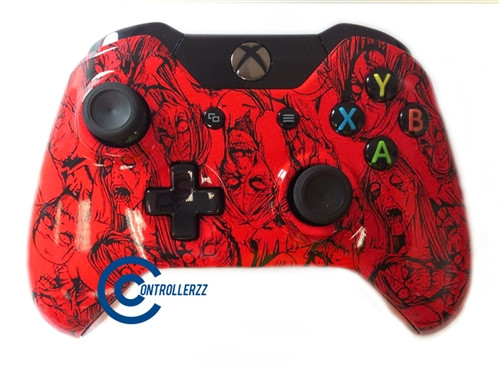 Red Zombie Xbox One Controller   Xbox One