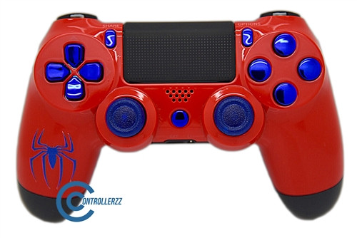 Spiderman Themed PS4 Controller   Ps4