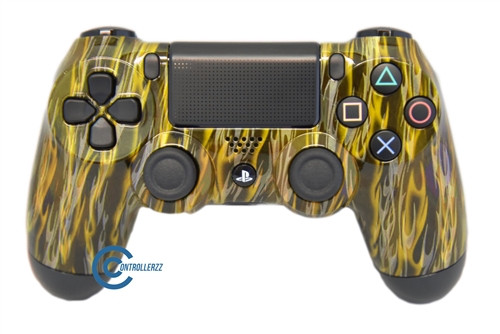 Yellow Flame PS4 Controller | Ps4