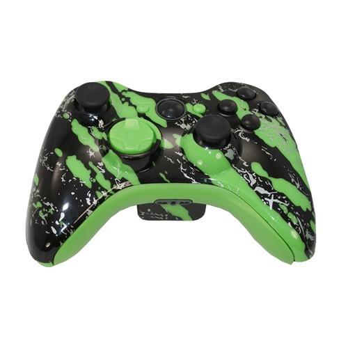 Green Splatter Controller | Xbox 360