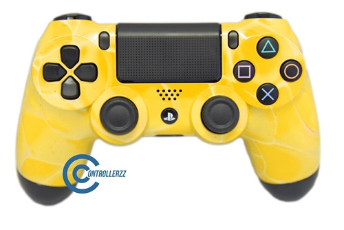 Yellow Swirl PS4 Controller | Ps4