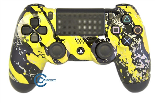 Yellow Splatter PS4 Controller | Ps4