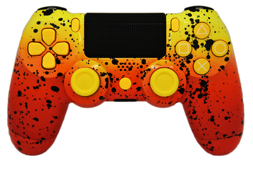 Orange & Yellow Fade PS4 Controller | PS4