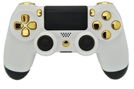 "White & Gold ""Soft Touch"" PS4 Controller 