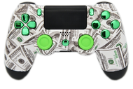Money & Green Chrome PS4 Controller | PS4