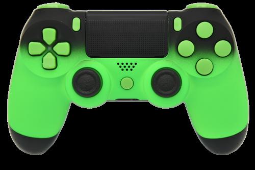 Green & Black Fade PS4 Controller | PS4