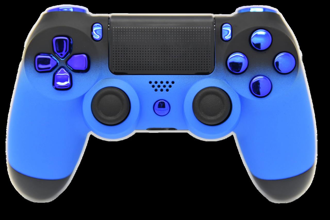Blue & Black Fade Custom PS4 Controller