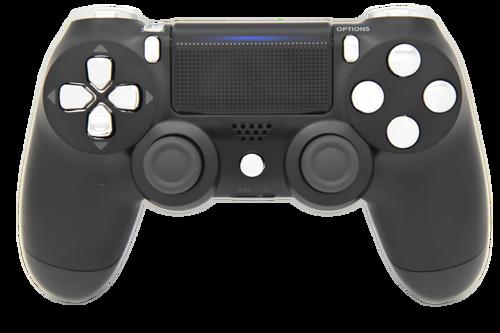 Black & Silver Controller | PS4