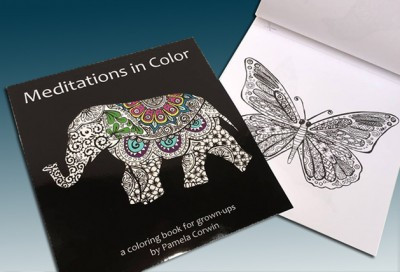 Whimsical coloring books for adults sold with 24 personalized coloring pencils