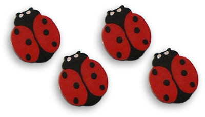 This is a set of four, large lady bug eraser toppers. They're really cute.